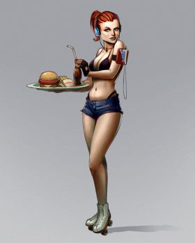 waitress character by CapAmerica13