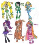 :CE: OC Object Designs (Candycute Girls?) by kuku88