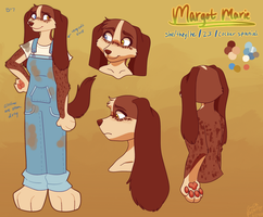 Ref sheet: Margot Marie by Redfoxling