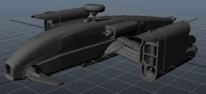 Spaceship Game Modell UDK by Artificialproduction