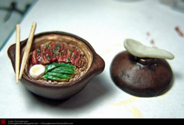 1-6 scale food item - Claypot by CheungKinMen