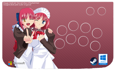 Melty Blood Maids Arcade Art (Windows) by ChechelEXGBR