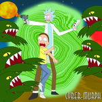 Rick and Morty by Cyber-murph