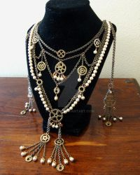 Steampunk Necklace by Zzzeus