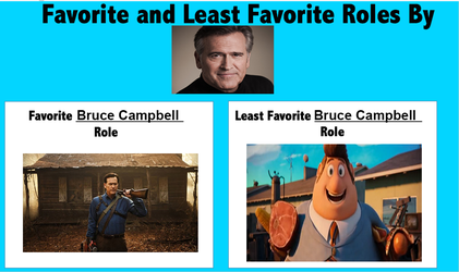 Favorite Least Favorite Bruce Campbell Roles by FireMaster92