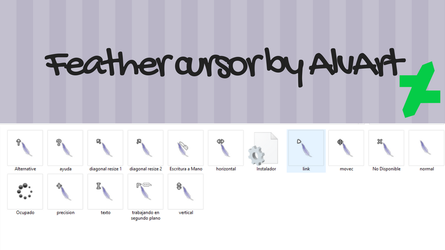Feather cursor by Alv8