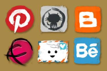 Additional social media icons by katefosson