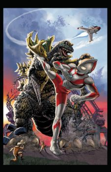 Ultraman vs Jiras by bridwell1962