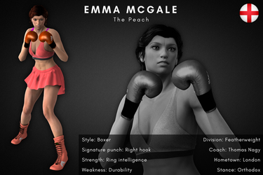 Fighter card: Emma McGale by alesiaboxing