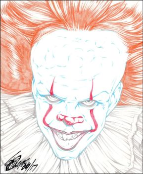 PENNYWISE 2017 PENCIL by ARTofTROY