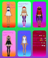 |Elka Tomori's outfits| by zZLazyWolfZz