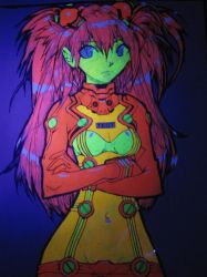 Asuka blacklight poster by fallout161