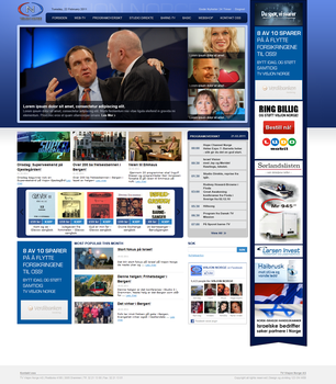 Tv Channel homepage by AncaDeaconu