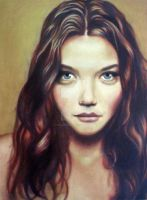 2nd Oil Potrait by BellaRosexx