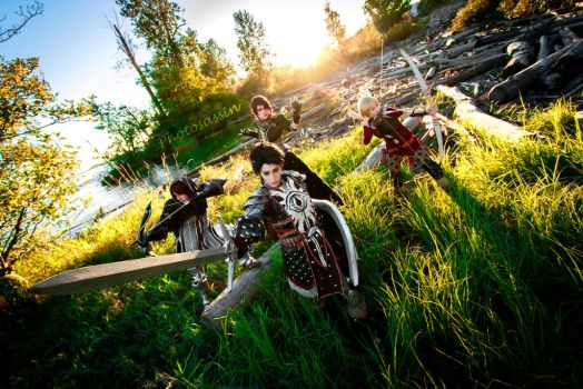 Dragon Age Inquisition Group Cosplay by Tarah-Rex