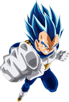 Vegeta SSJ Blue Full Power by SaoDVD