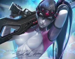 Widowmaker. nude tag. by sakimichan