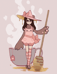 sleepypandie witchsona by missusruin