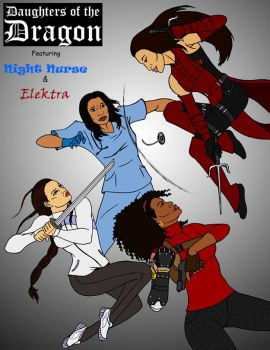 Daughters of the Dragon vs Elektra by tapwater86
