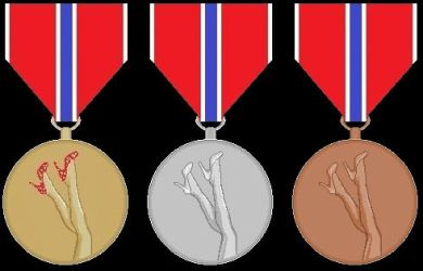 Leg-o-vision contest medals by sixthcolumn