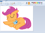 Scootaloo sleep in Paint by sallycars