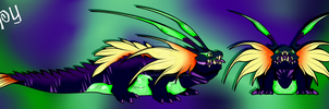 Gooper a female Guppy Basilisk by Darumemay