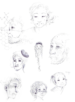 (sketches) aged faces by SnowLicht