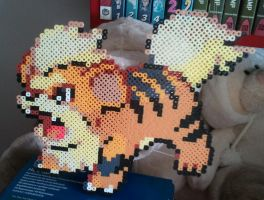 Growlithe made from Perler Beads