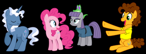 Two Stallions for two Pies by 3D4D