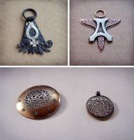 Mixed metal jewelry 1 by Astalo