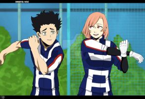 Collab Spar- My Hero Academia OCs by Immortal-Wenz
