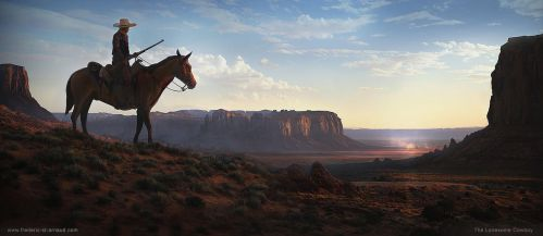The Lonesome Cowboy by fstarno