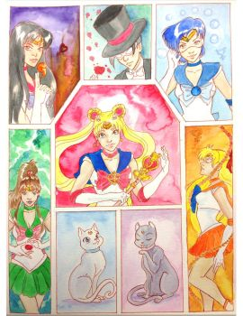 Sailor Scouts by mianewarcher