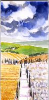 Tuscany on Moleskine 3 by andreuccettiart