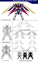 Wing Gundam Ver Nexus Design Sheet by AMO17