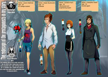The Protagonists of my Comic by High-Bear