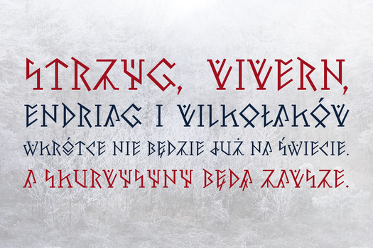 Witcher quote (Pertho runic font preview) by hyvyys