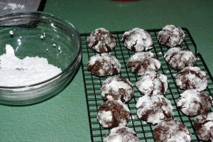Chocolate Crinkle with a minty surprise by iamwhoiam12