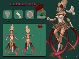 LoL - Rosehaze Janna Skin Concept by fivetinsoldiers