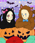 Halloween Kitty :ALWAYS OPEN COLLAB: by CLGbases