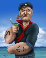Popeye...in color by LabrenzInk