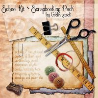 School Scrapbooking Kit by GoblinStock