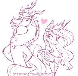 Photo Discord and Celestia by StePandy