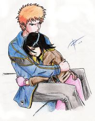 IchiRuki Birthday Giftart by ryne