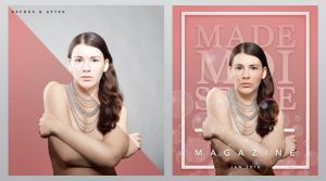 Model Magazine Retouch (Before + After) by SoyUnPeredor