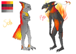 Pyro and Seth reference - Phoenix form by Bezrail