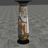 XNALara Release! Ancient Egyptian Column by Fuzzy-Moose