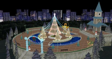MMD Holiday Stage Download by Starlight-Enterprise