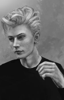 Study work:Lucky blue smith portrait by KamiwaiZu