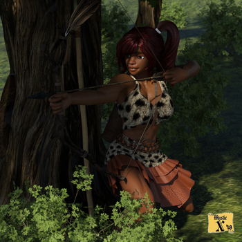 Amazoness villager out hunting by mysticx1